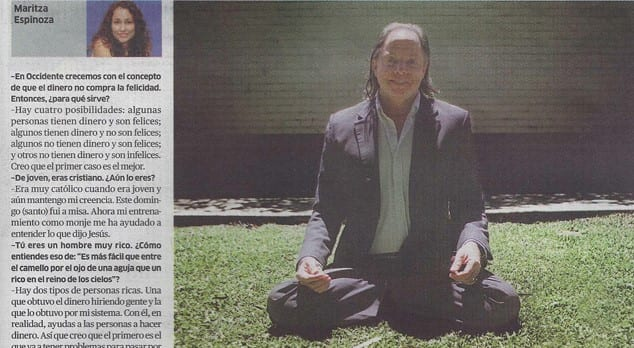 Geshe Michael Roach on La Republica / Lima Peru April 2012 (Spanish Only)