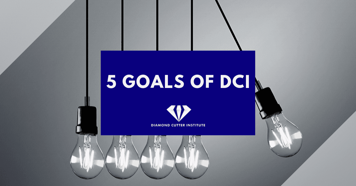 Diamond Cutter Institute's 5 goals